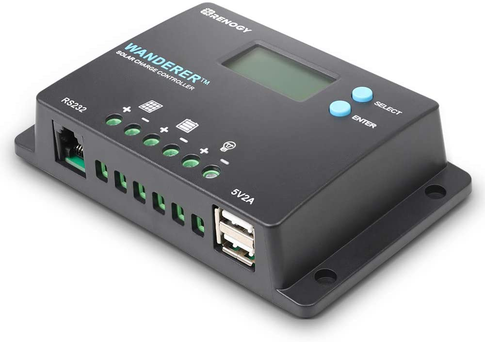 Renogy Wanderer 10A PWM Solar Charge Controller