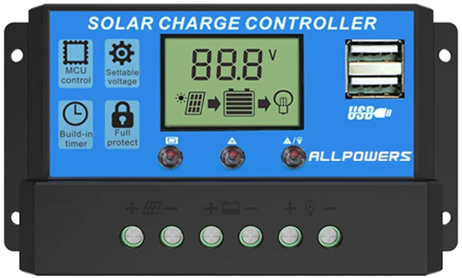 ALLPOWERS 20A - Solar Charge Controller