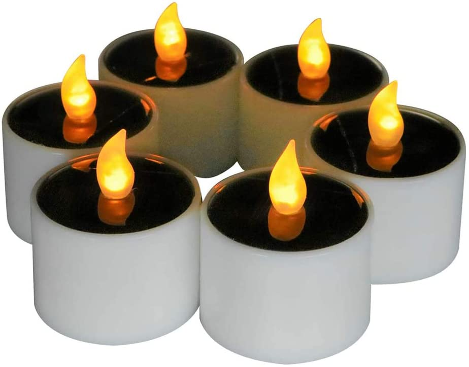 Micandle Pack of 6 Outdoor Solar Candles