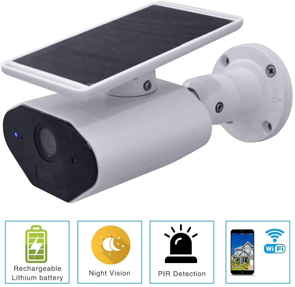 Celibate Solar Battery Powered Wire-Free Security Home Camera