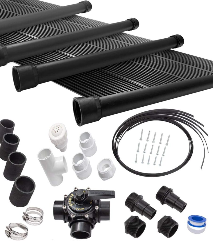 Sun Quest 6-2X12 Solar Swimming Pool Heater Complete System With Roof Kits