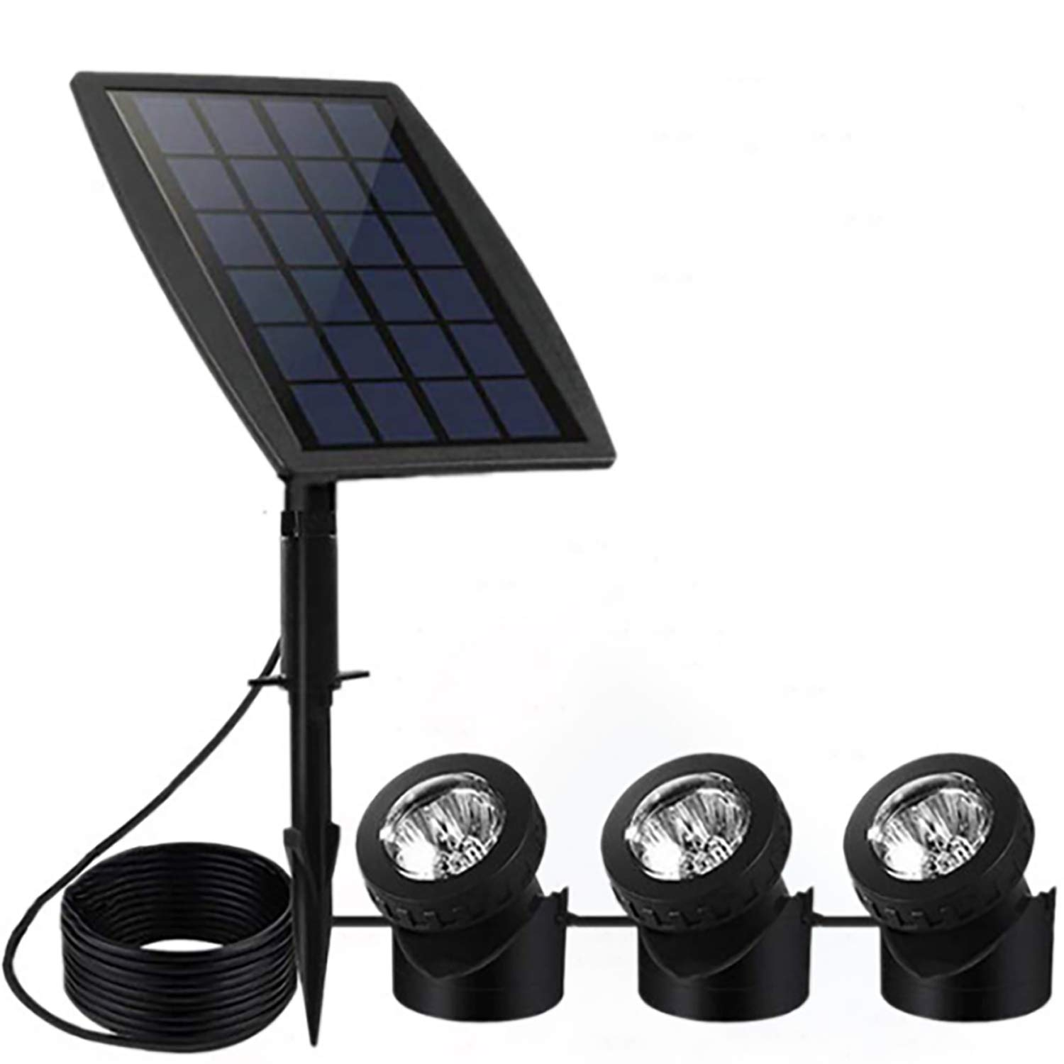 Feifeier Weather Proof Solar Powered Pure White Color Led Lights