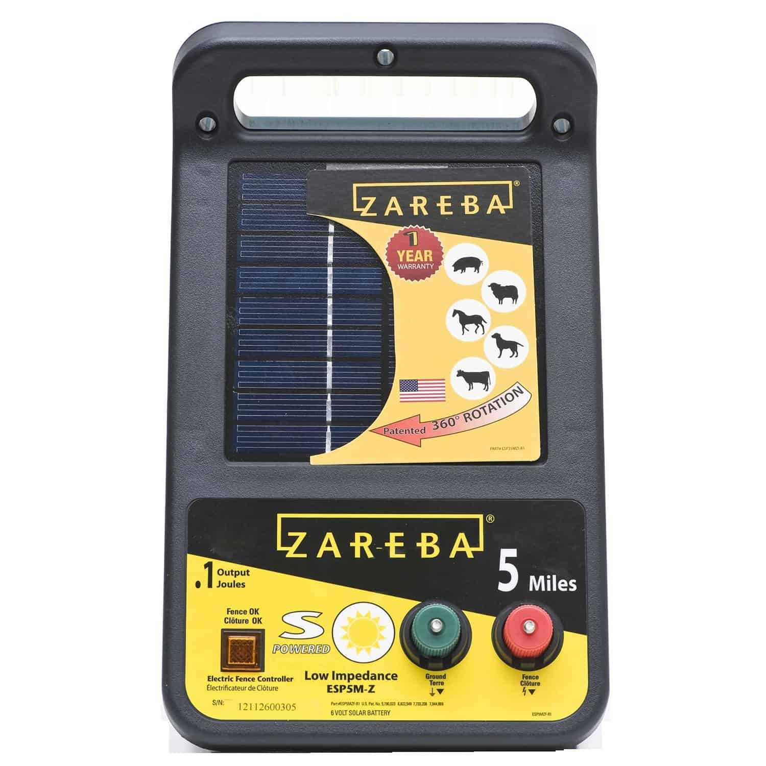 Best Solar Fence Charger,Zareba ESP5M Solar Electric Charger