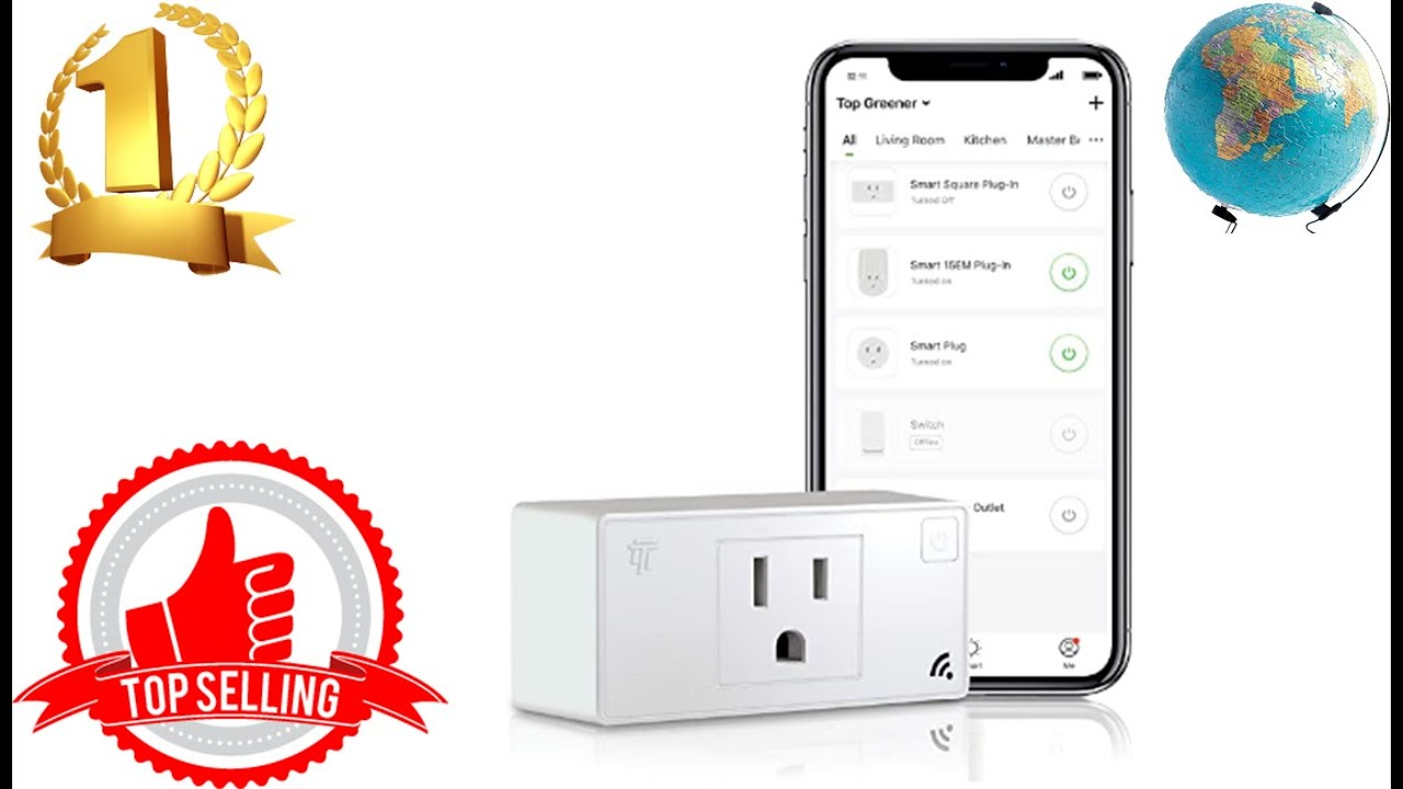 TOPGREENER Smart Outlet with Energy Monitoring